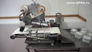 Видео: Установка нанесения этикеток (автомат этикетировочный для плоской крышки) ИПКС-099П.