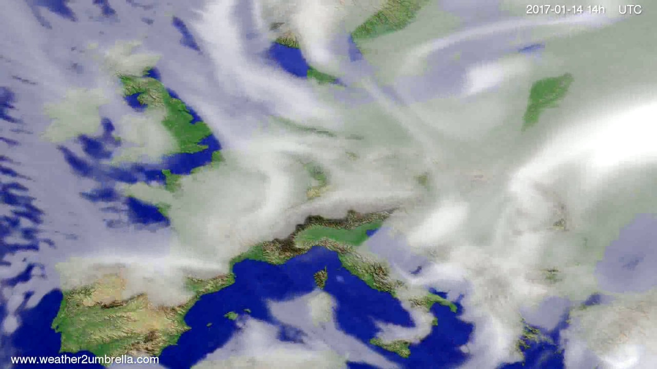 Cloud forecast Europe 2017-01-10