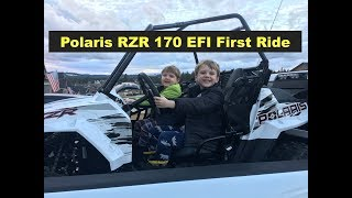 2. Polaris RZR 170 First Ride and Break in with kids youth UTV Side by Side