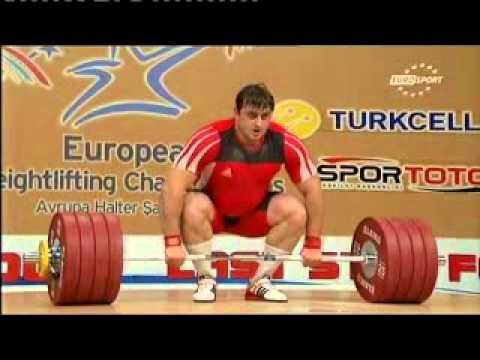 2012 European Weightlifting +105 Kg Clean and Jerk