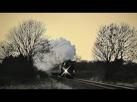 LNER A1 60163 'Tornado' hits 77mph working The Cathedrals...
