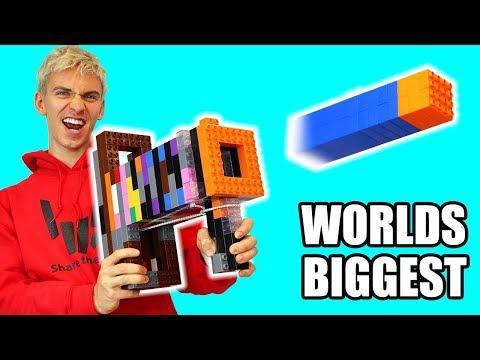 WORLDS BIGGEST LEGO NERF GUN!!