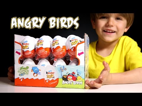 Sammie has some New Kinder Joy Angry Birds Edition - Cool Stuff