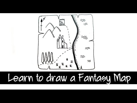 Learn to draw a Fantasy Map Quickly and Easily