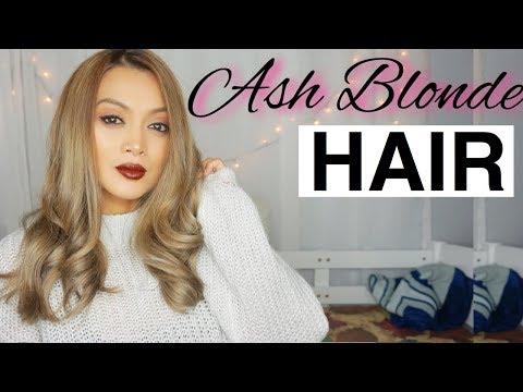 Hair color - MEDIUM ASH BLONDE HAIR TUTORIAL