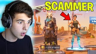 I caught a Fan TRYING to SCAM ME.. (Fortnite Battle Royale)