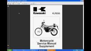 8. Kawasaki KLR 250 Manual