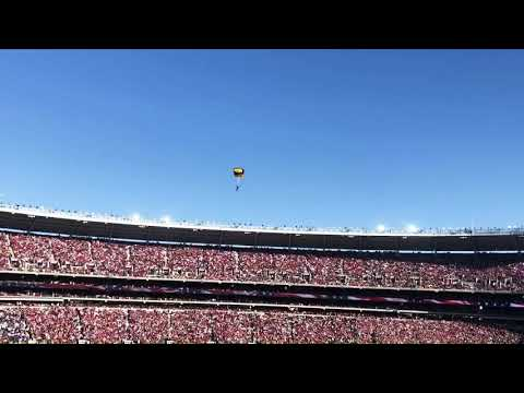 LSU vs. Alabama: Army Special Forces parachute into stadium to deliver game ball