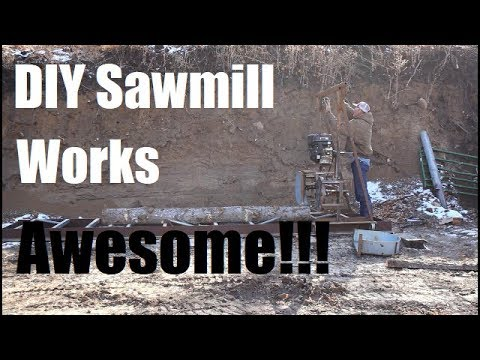 Homemade Sawmill Works Awesome Milling Beams For Porch