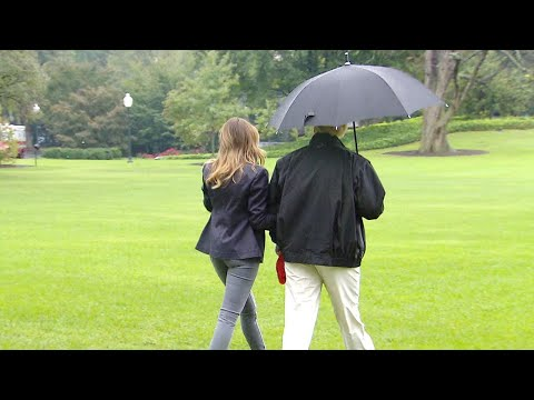 President Trump Scrutinized for Failing to Cover Melania With Umbrella