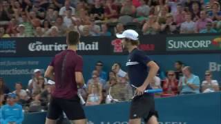 Highlights from the Men's finals at the Brisbane International 2017.