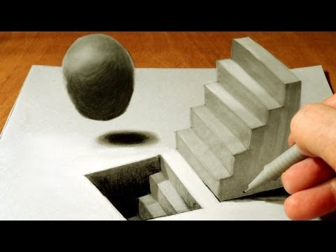 3d Staircase Drawing How to Draw a 3d Staircase on