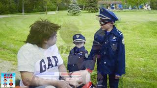 Video Sketchy Mechanic in the Run Away Police Car! Brother Kid Cops Chase him Down! Funny Parody Video MP3, 3GP, MP4, WEBM, AVI, FLV Januari 2018