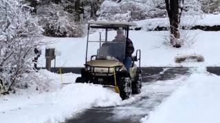 7. Yamaha G29 Drive Snow Plow