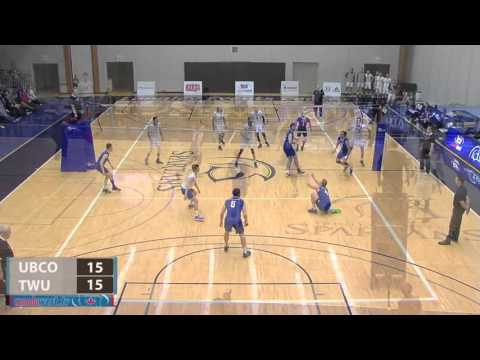 2016-02-06 TWU Men's Volleyball Highlights vs UBC Okanagan