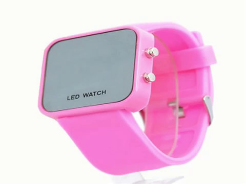 Mirror Men Lady LED Digital Sport Unisex Watch Gift Jelly(Only White Now)