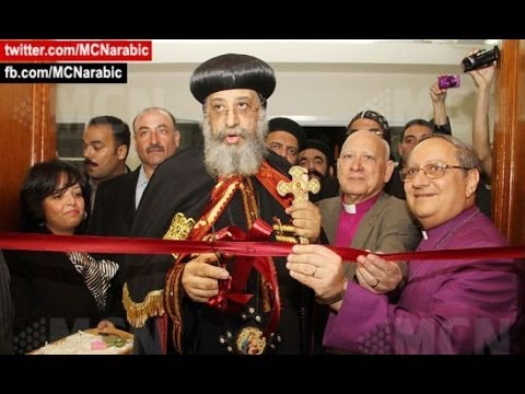 Pope of Orthodox church visits protestant church for first time in Egypt