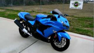 9. Overview and Review of the 2012 Kawasaki ZX14R Ninja in Candy Surf Blue