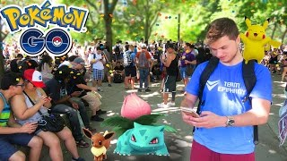 THE BIGGEST POKEMON GO PARTY IN THE WORLD! (Pokemon GO Gameplay), pokemon go, pokemon go ios, pokemon go apk