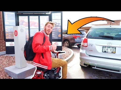 TOY DIRT BIKE IN THE DRIVE THRU!