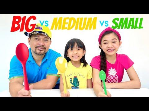 BIG VS MEDIUM VS SMALL SPOON CHALLENGE | KAYCEE & RACHEL in WONDERLAND FAMILY