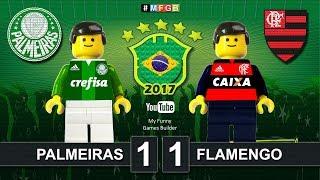 Brick film reconstruction of the match Palmeiras and Flamengo. Seleção Brasileira - Palmeiras vs Flamengo 1-1 All Goals...