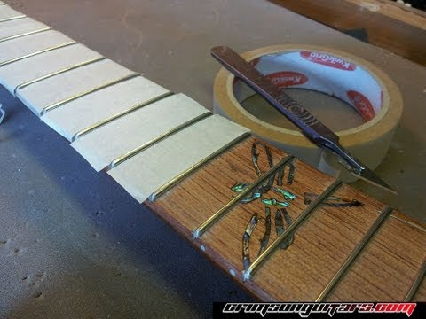 leveling and polishing guitar frets | how to build a guitar tutorial