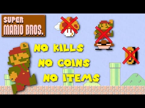 Gamer Attempts to Beat Super Mario Bros Without Collecting Coins Killing Enemies and Using