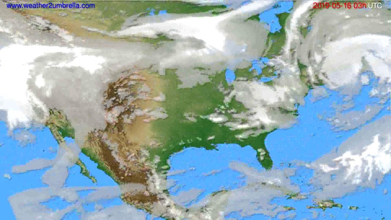 Cloud forecast USA & Canada // modelrun: 00h UTC 2019-05-13