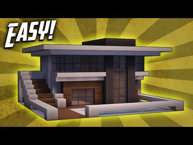 Minecraft how to build a small modern house tutorial 9 for Modern house music