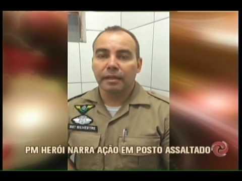 VÍDEO - Bandido é baleado após tentar assaltar posto em Barbacena