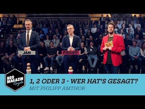 1, 2 oder 3 - Wer hat's gesagt? mit Philipp Amthor | NEO MAGAZIN ROYALE mit Jan Böhmermann - ZDFneo