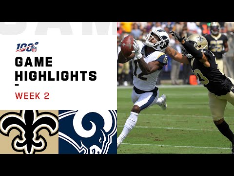 Saints vs. Rams Week 2 Highlights | NFL 2019