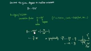 Here I explain how to covert degrees to radians