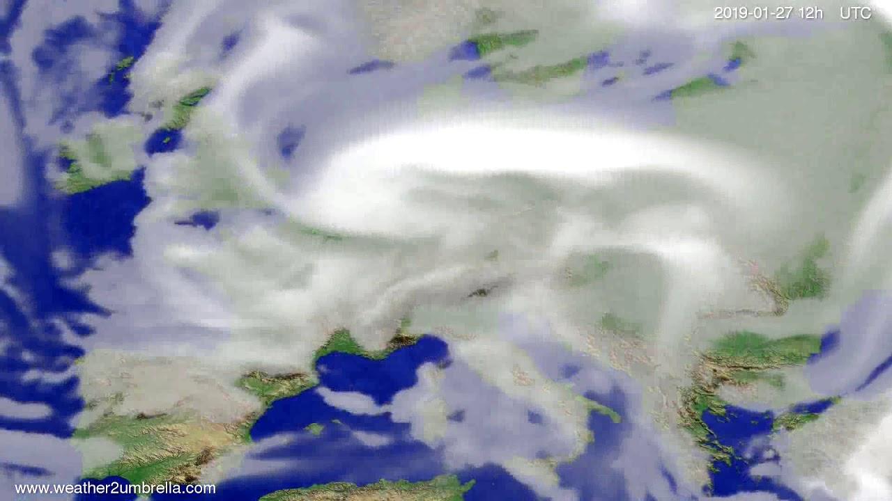 Cloud forecast Europe 2019-01-23