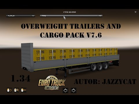 Overweight Trailers and Cargo Pack by Jazzycat v7.6