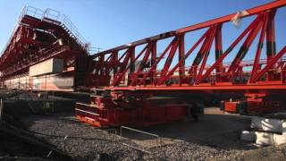 Mersey Gateway Bridge - Moving the MSS into first launching position - October 2015