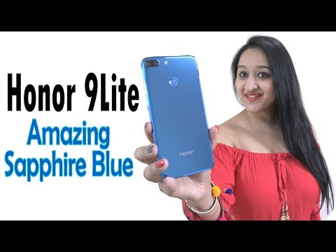 Honor 9 Lite Sapphire Blue Unboxing & Overview- In Hindi
