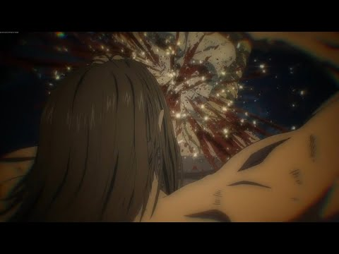 Eren drinks War Hammer Titan   Attack on Titan Season 4 Episode 7