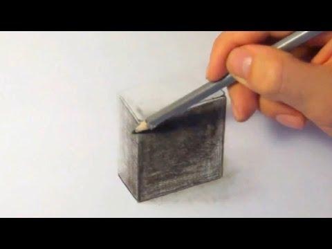 3D Schachtel, zeichnen im Zeitraffer (3D Box, drawing in fast motion)[HD]