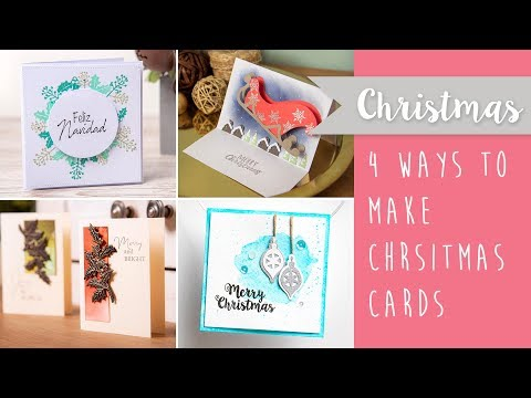 Four Ways to Make Christmas Cards - Sizzix