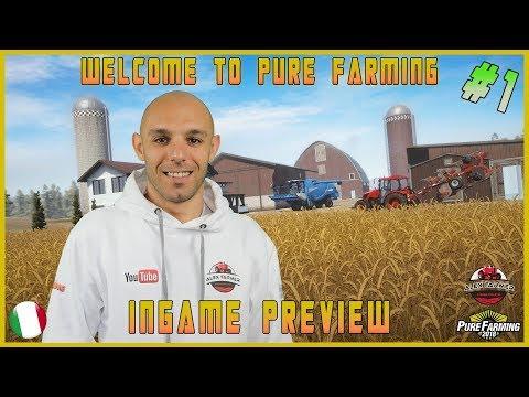 Pure Farming 18 Pre Alpha test ingame ITA Pre Alpha