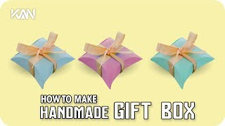 Make Gift Box Homemade using different color thick papers