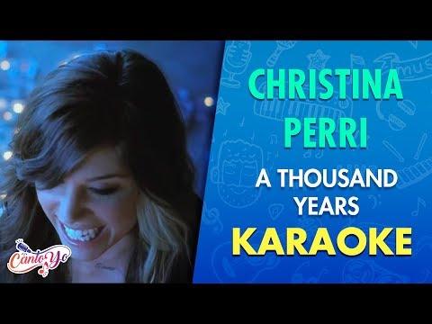 Christina Perri - A thousand years (Karaoke)   CantoYo