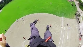 Video Paramotor CRASHES Baseball Game | Emergency Landing in the Outfield MP3, 3GP, MP4, WEBM, AVI, FLV Mei 2018