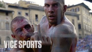 """Calcio Storico is one of the most incredible spectator sports in the world, and one of Florence's best keep secrets. Want to learn more about Calcio Storico? Watch a full episode of VICE WORLD OF SPORTS: Rivals on Calcio Storico here: http://bit.ly/2sxQF5zCheck out """"The Calcio Storico Up Close"""" - http://bit.ly/2tpDlmCSubscribe to VICE Sports here: http://bit.ly/Subscribe-to-VICE-SportsCheck out VICE Sports for more: http://www.vicesports.comFollow VICE Sports here:Facebook: https://facebook.com/VICESportsTwitter: https://twitter.com/VICESportsInstagram: http://instagram.com/vicesportsMore videos from the VICE network: https://www.fb.com/vicevideo"""