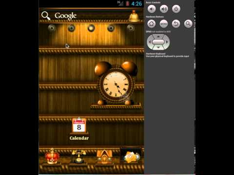 Video of ADWTheme Android Shelves