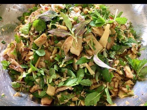 How to make Larb nor mai ລາບໜໍ່ໄມ້ (LAO FOOD) HOME MADE BY KAYSONE