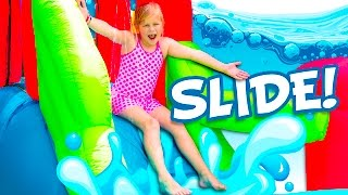 ASSISTANT Inflatable Water Slide Challenge Funny and Huge Toys...