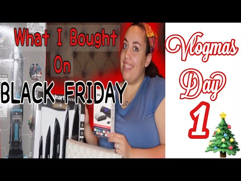 Vlogmas Day 1   Black Friday Haul   Black Friday Deals At JcPenney And Walmart 2019  